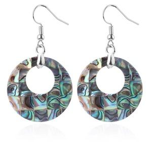 Retro Abalone Seashell Earrings